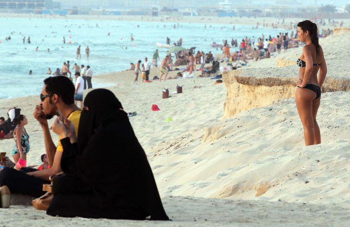 Strandszene in Dubai