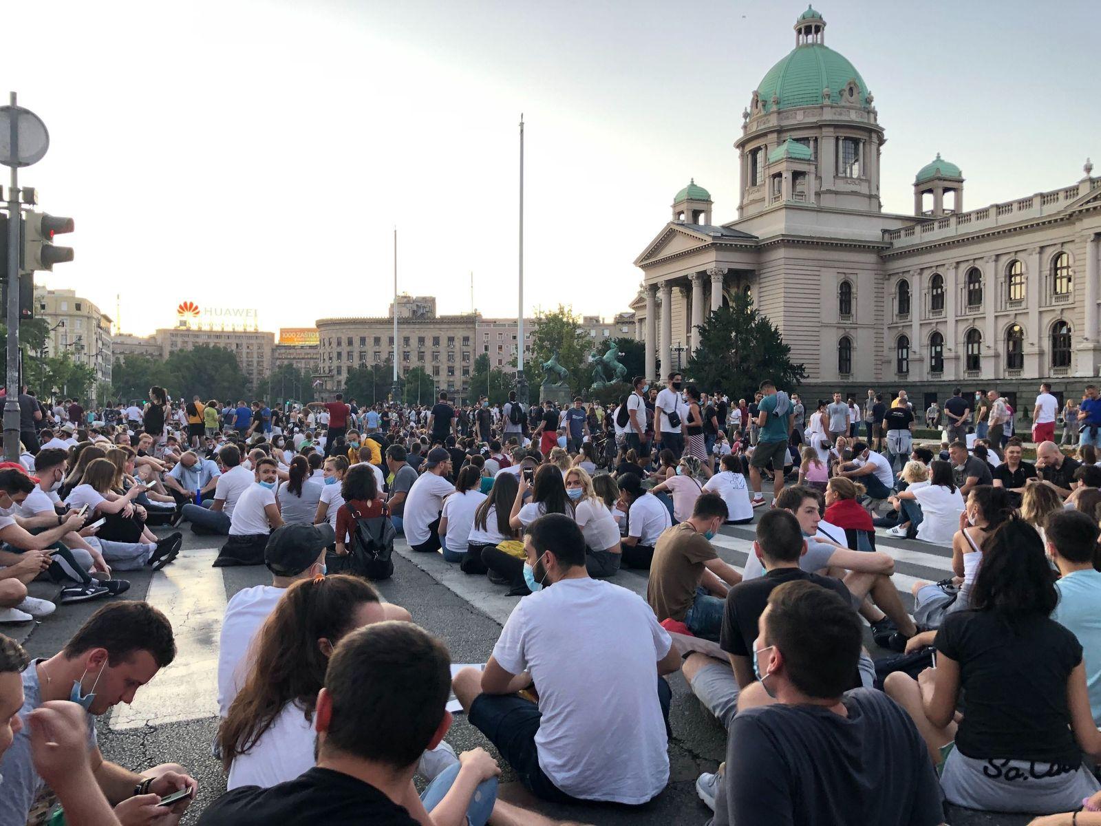 Coronavirus - Proteste in Serbien