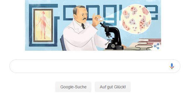 "Google Doodle am 13. Mai 2019: ""Frohen 136. Geburtstag, Georgios Papanikolaou!"""