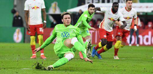 DFB-Pokal-Viertelfinale: RB Leipzig schaltet den VfL Wolfsburg aus: Rausgerutscht