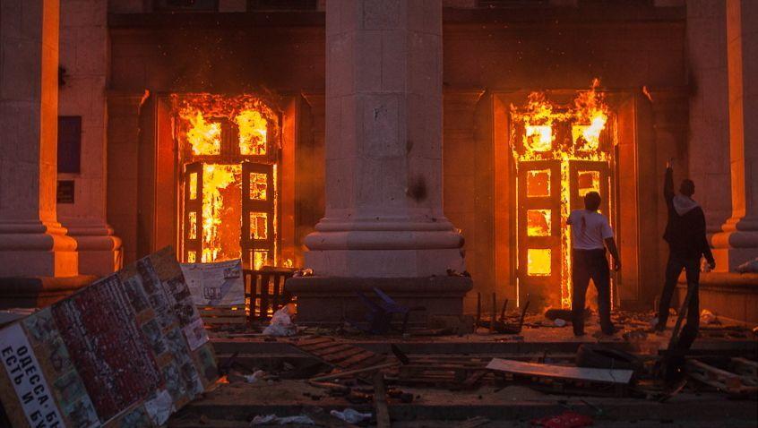 Brennendes Gewerkschaftshaus in Odessa: Es geht nicht um Freiheit
