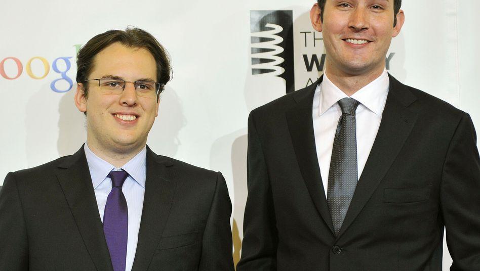 Instagram-Gründer Mike Krieger (links) und Kevin Systrom (Archivfoto)
