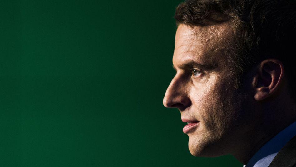 Französischer Präsidentschaftskandidat Emmanuel Macron