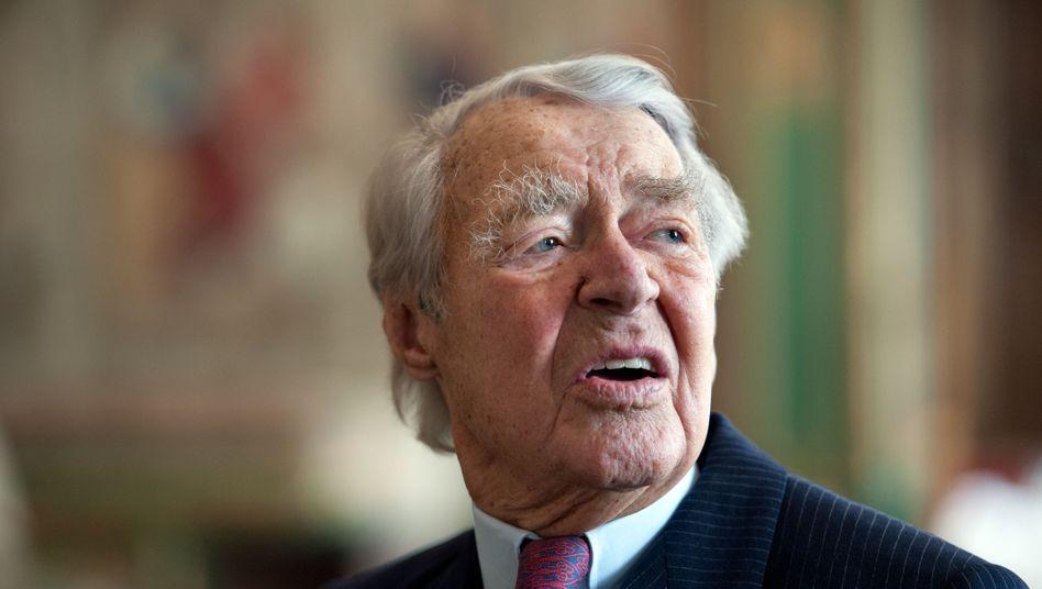 Krupp-Patriarch Berthold Beitz: Will den Vorsitz der Krupp-Stiftung behalten