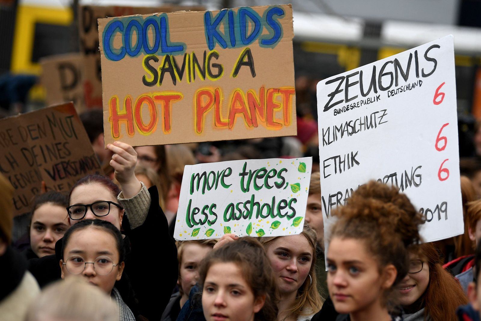 Demonstration von Schülern für den Klimaschutz