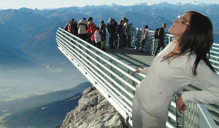 Skywalk am Dachsteingletscher: Plattform am Hunderkogel