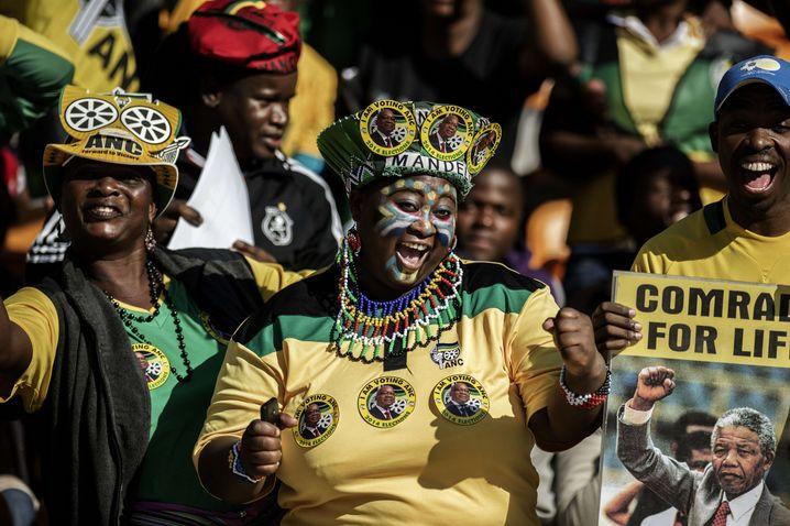 Wahlveranstaltung in Johannesburg: Mandela-Verehrung