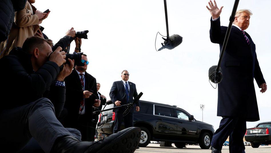 """Donald Trump (im Februar 2020): Rechtsverteter wollen angeblich """"böse Absicht"""" der Behörden erkannt haben"""