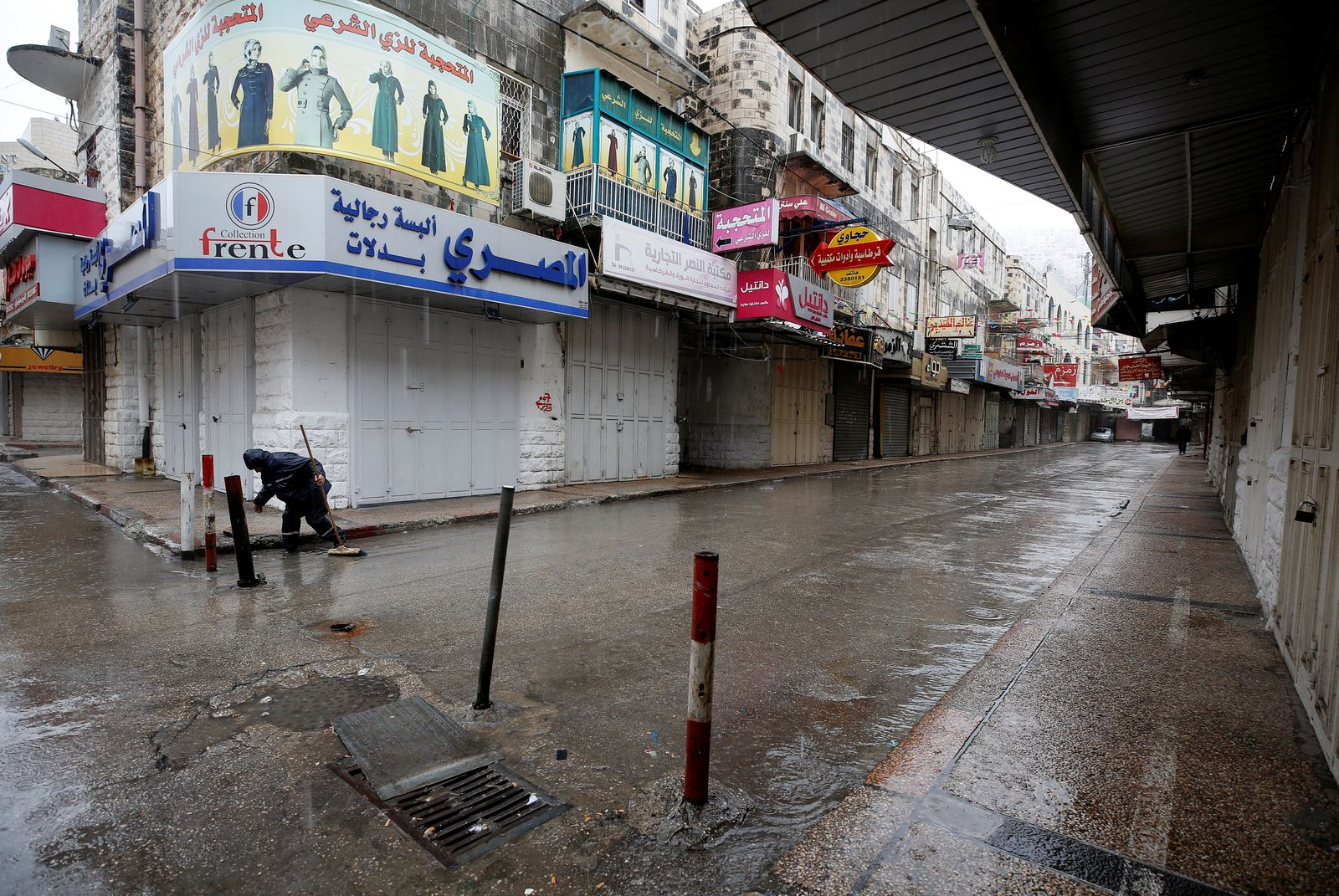 Westjordanland/ Geschäfte geschlossen