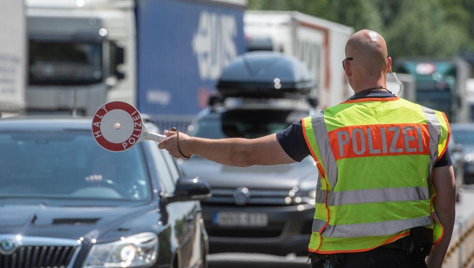 Grenzkontrollen an der deutsch-österreichischen Grenze in Bayern (Archivbild)