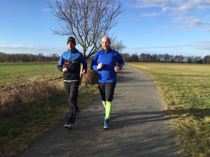 Piet Könnicke und Micha Klotzbier beim Training