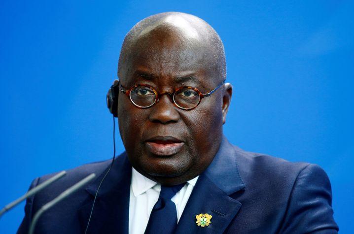 Nana Akufo-Addo, Präsident von Ghana bei seinem Berlin-Besuch im Februar