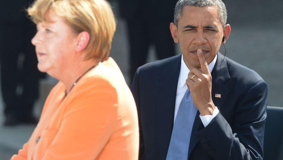 US-Präsident Obama mit Kanzlerin Merkel (beim Berlin-Besuch):