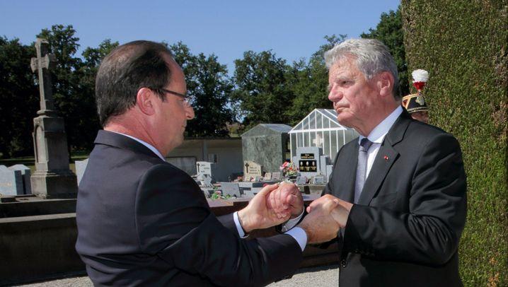 Gauck in Frankreich: Geste der Versöhnung