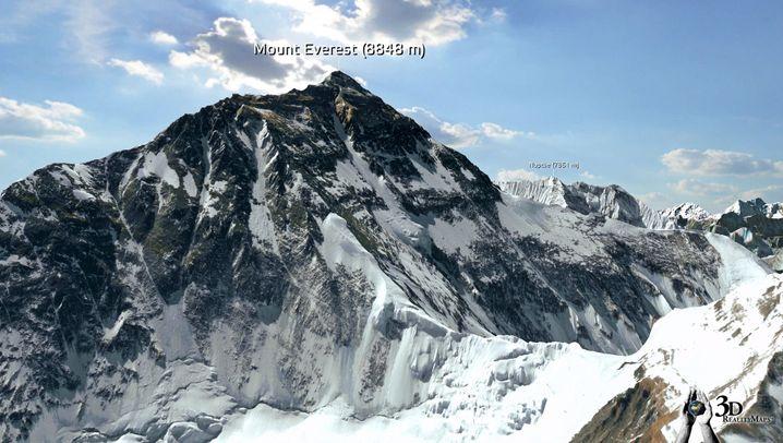 3D-Modell: Virtueller Everest