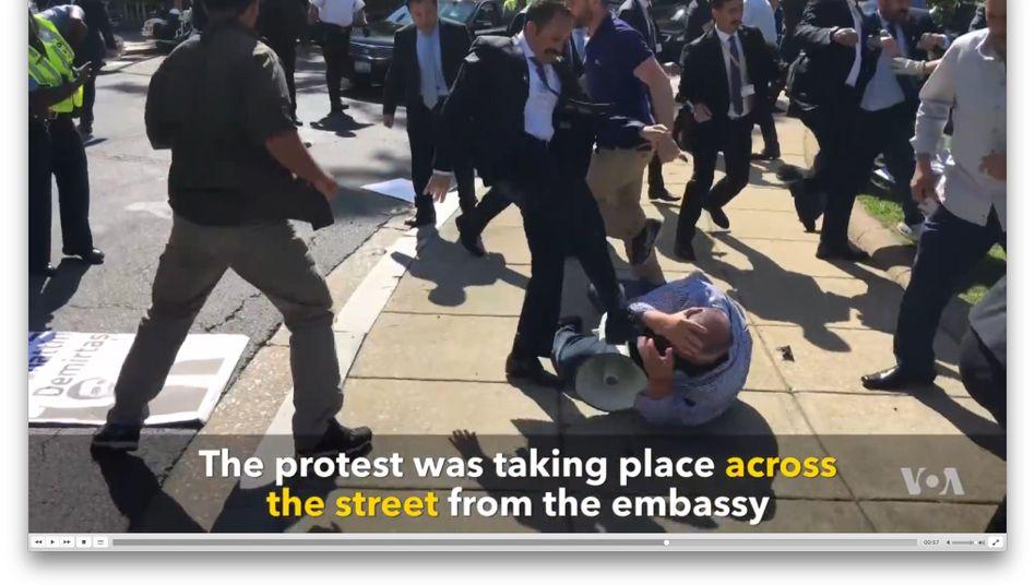 Gewalttätige türkische Regierungssympathisanten in Washington