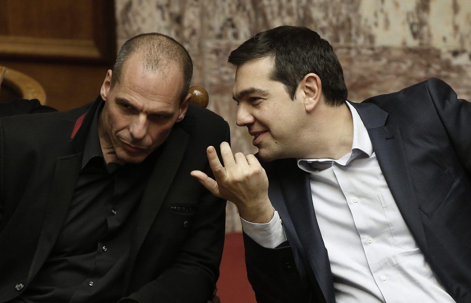 Griechenland Tsipas Varoufakis