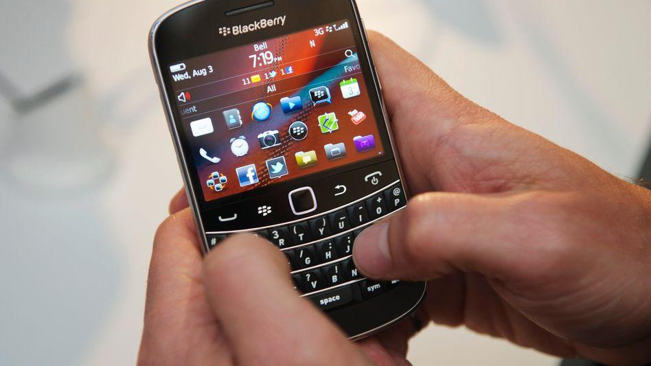 Blackberry im Einsatz: Die Aktie des Herstellers brach um mehr als 20 Prozent ein