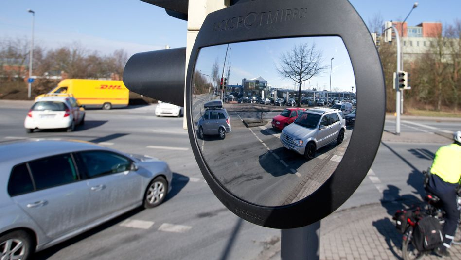 Spiegel für Radfahrer-Sicherheit: In Münster wird das System getestet