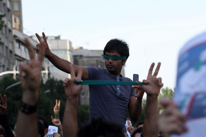 Demonstranten 2009