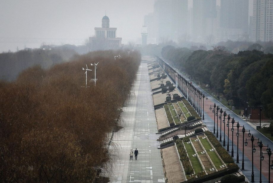 A street in Wuhan: As ground zero of the epidemic, what happens in the Chinese city could determine whether the virus can be contained or not.