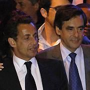French president-elect Nicolas Sarkozy and his political advisor Francois Fillon, who is widely tipped to be the next prime minister.