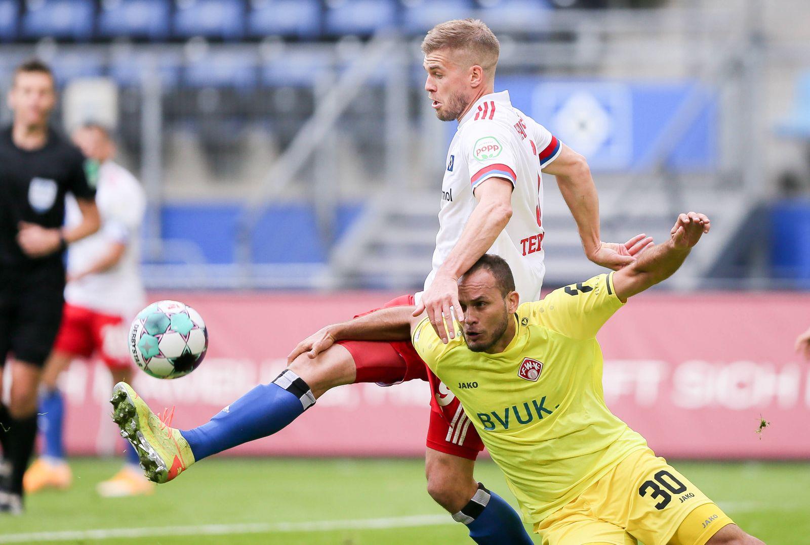 Deutschland, Hamburg. 24.10.20 2. Fussball Bundesliga Saison 20/21, 05. Spieltag Hamburger SV - Würzburger Kickers im V