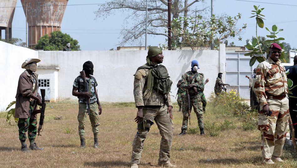 Kontrollpunkt in Bouaké