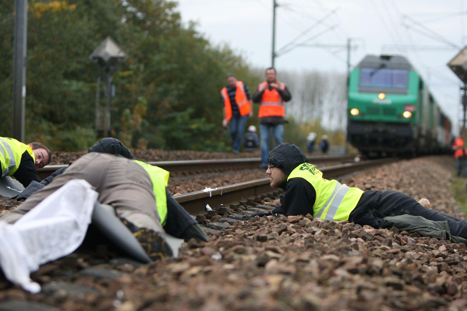Frankreich/ Castor-Blockade