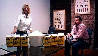 Plakative Demonstration: Spurlock zeigt auf, wie viel Zucker...