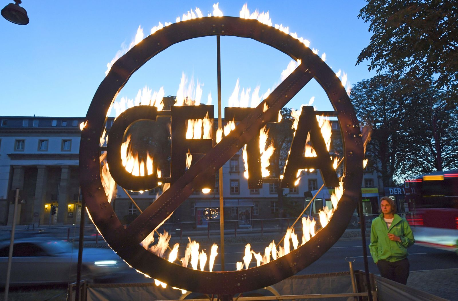Protest gegen CETA in Erfurt