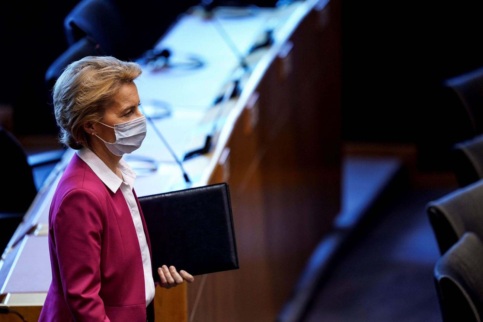 BELGIUM-EU-POLITICS-PARLIAMENT-HEALTH-VIRUS