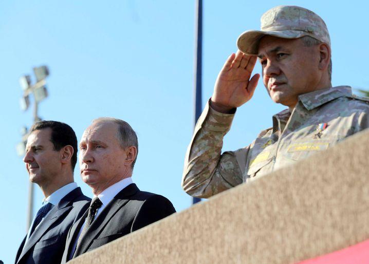 Assad und Putin (Dezember 2017 in Syrien)