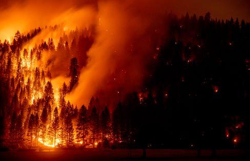 Dixie-Feuer in den USA am 22. August 2021