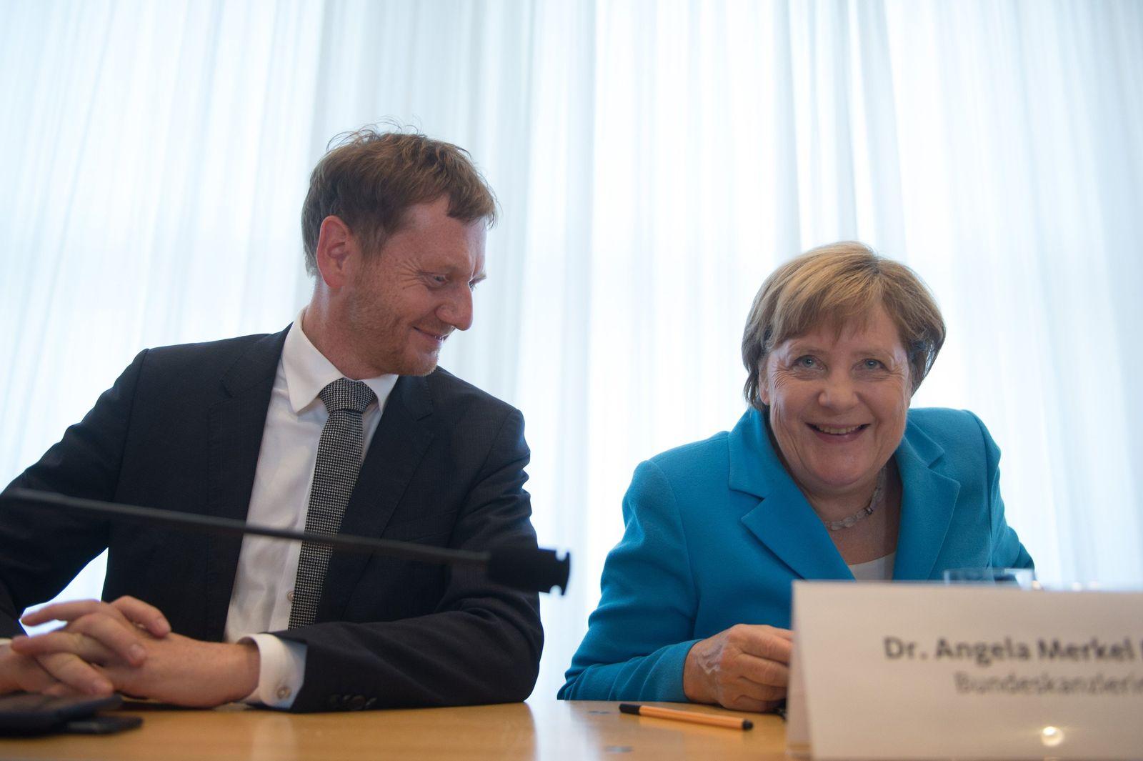 Michael Kretschmer Angela Merkel