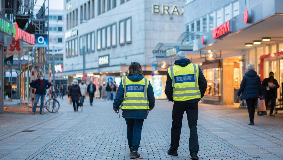 Einkaufsstraße in Bielefeld