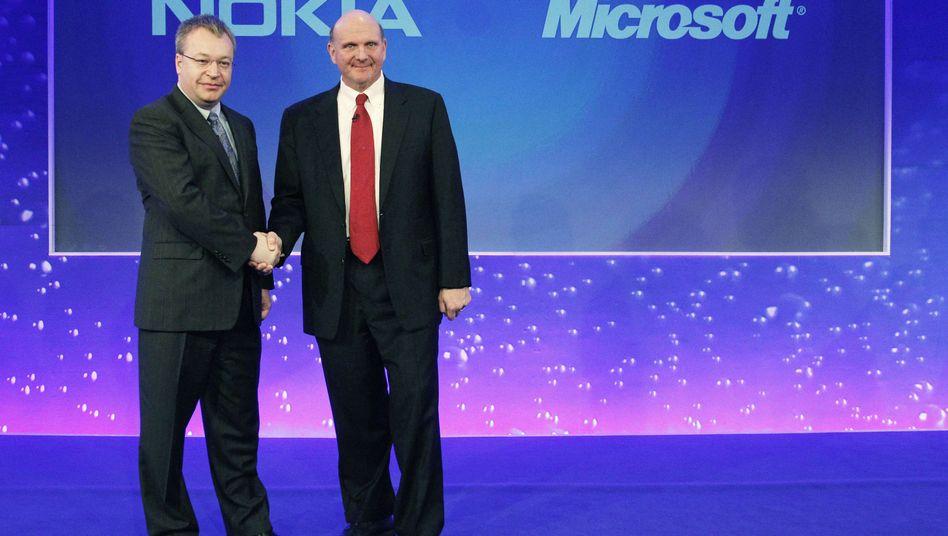 Hallo, Boss: Ex-Nokia-Chef Elop mit Microsoft-Chef Ballmer