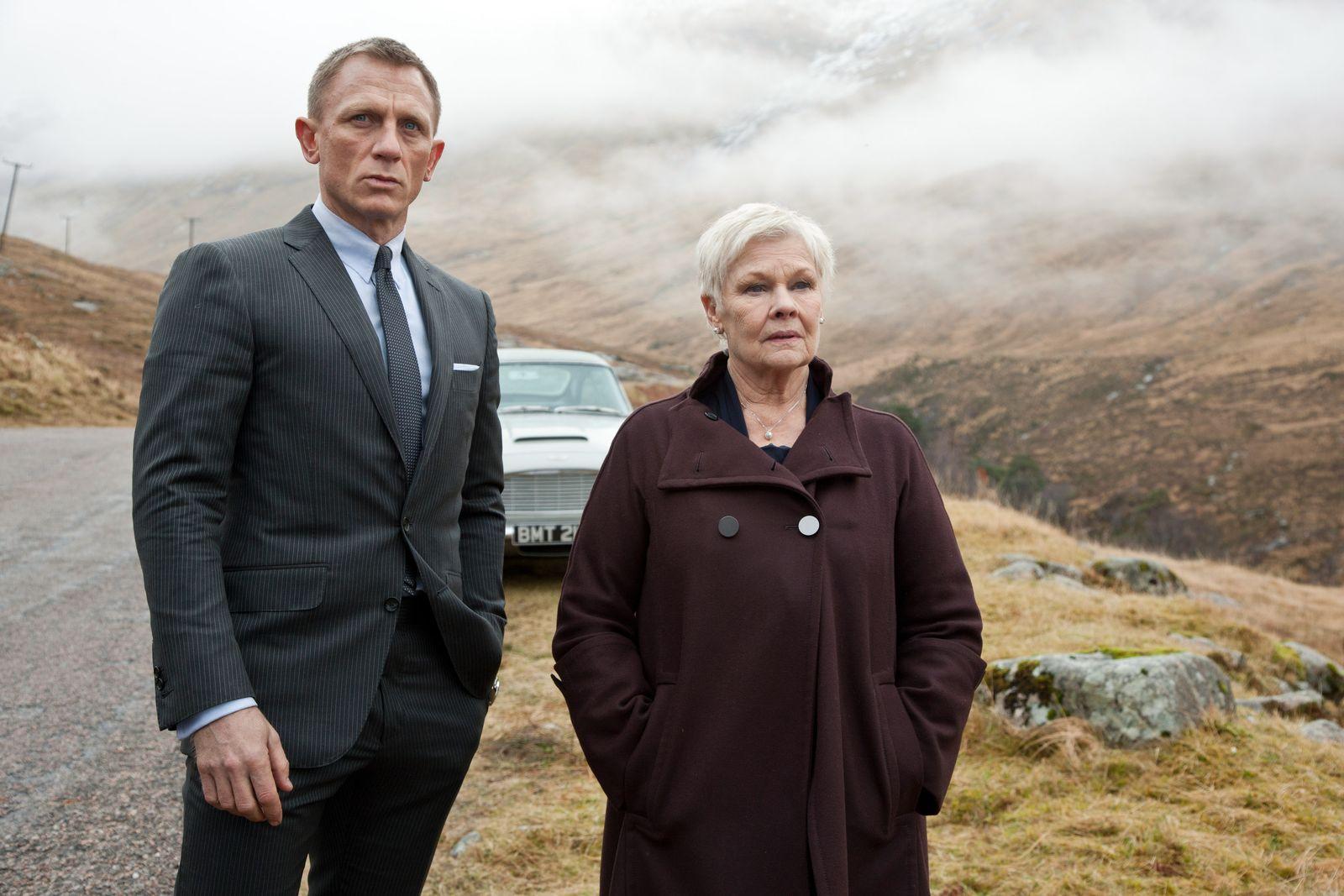 SKYFALL, from left: Daniel Craig as James Bond, Judi Dench, 2012. ph: Francois Duhamel/©Columbia Pic
