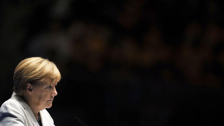 Wahlkämpferin Angela Merkel in Düsseldorf: Kanzlerin des Ungefähren