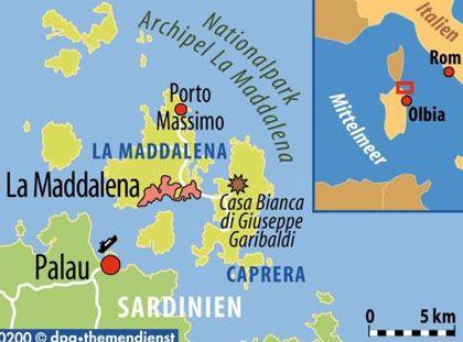 Vor der Nordostkste von Sardinien liegt der Archipel La Maddalena: Es umfasst sieben Inseln.