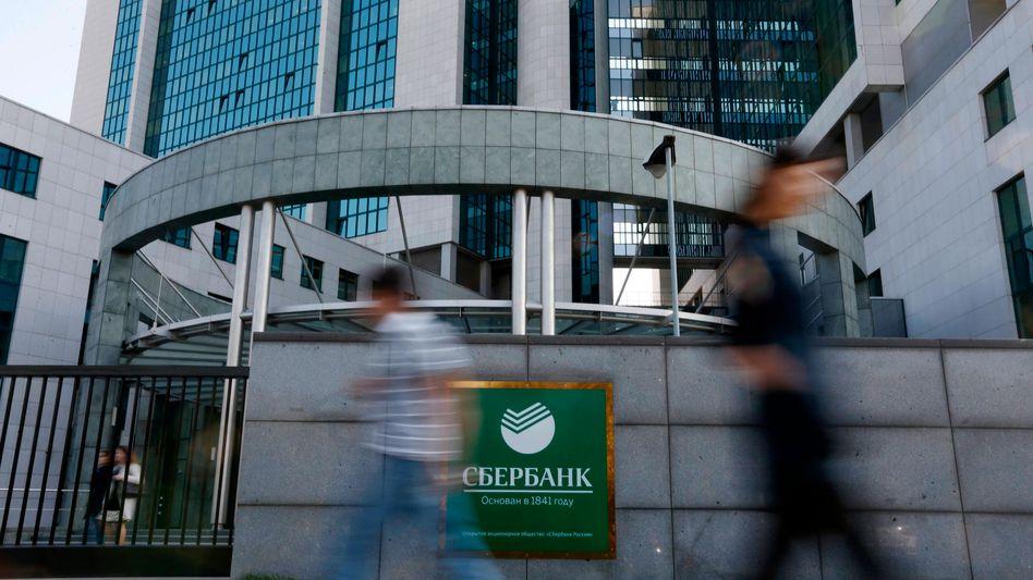 Sberbank in Moskau (Archivbild): Großer Kreditgeber der russischen Wirtschaft