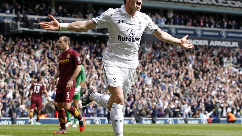 Real-Zugang Bale: Zug zum Tor, dynamisch, starke Schusstechnik