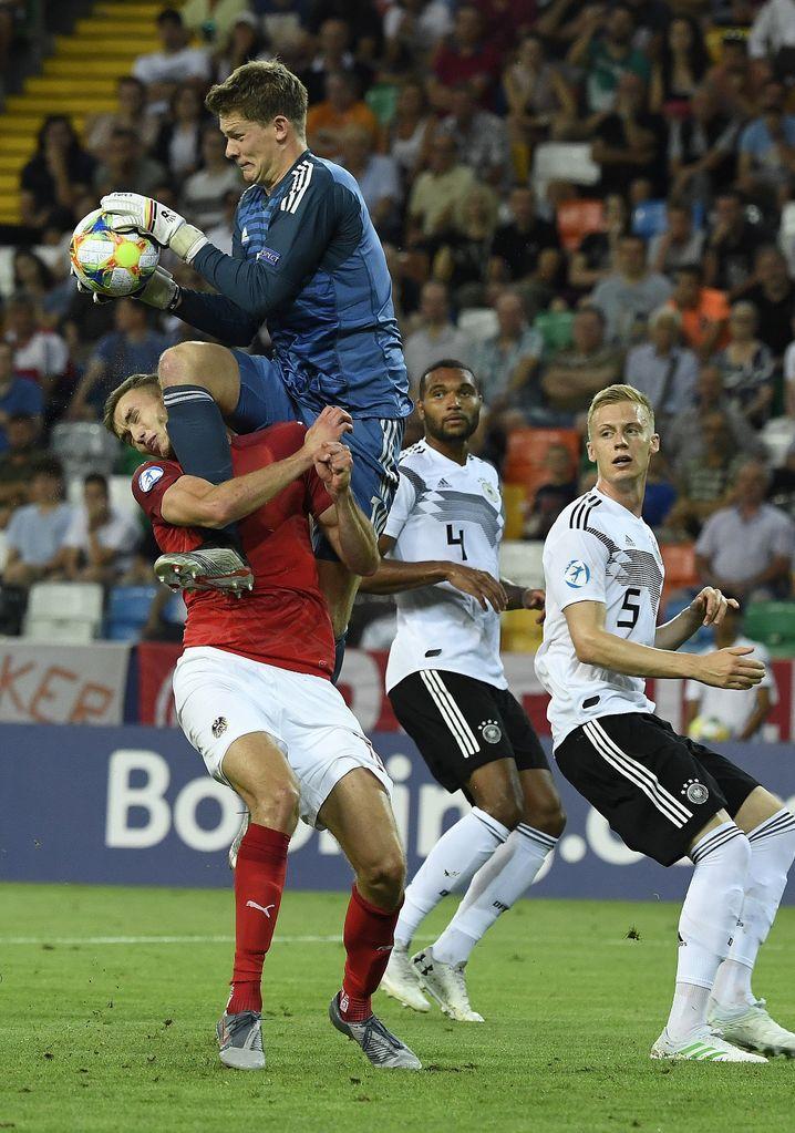 Alexander Nübel bei der U21-EM im Vorrundenspiel gegen Österreich