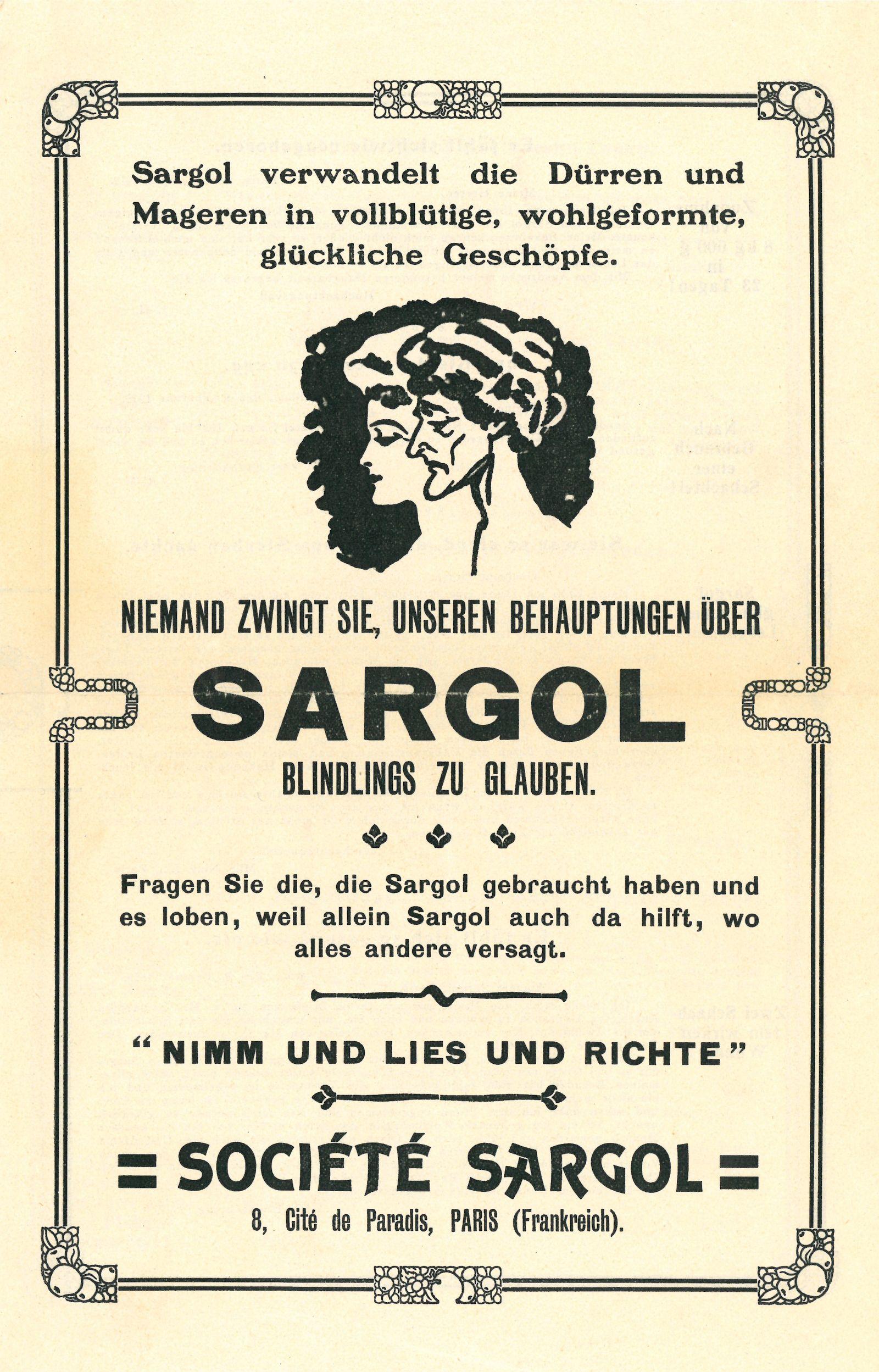 Wate On Werbung - Sargol