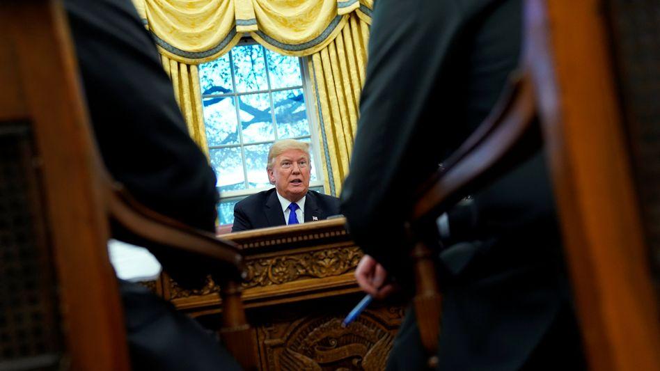 US-Präsident Trump im Oval Office