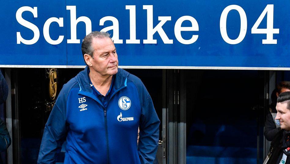 Huub Stevens bei seinem bislang letzten Engagement bei Schalke 04 2019