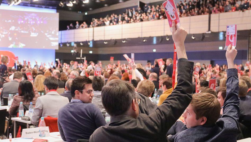 Juso-Bundesvorsitzender Kevin Kühnert auf dem SPD-Sonderparteitag