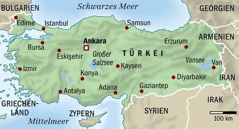 Karte der heutigen Türkei: Anatolische Bauern sprachen als Erste die indoeuropäische Sprache