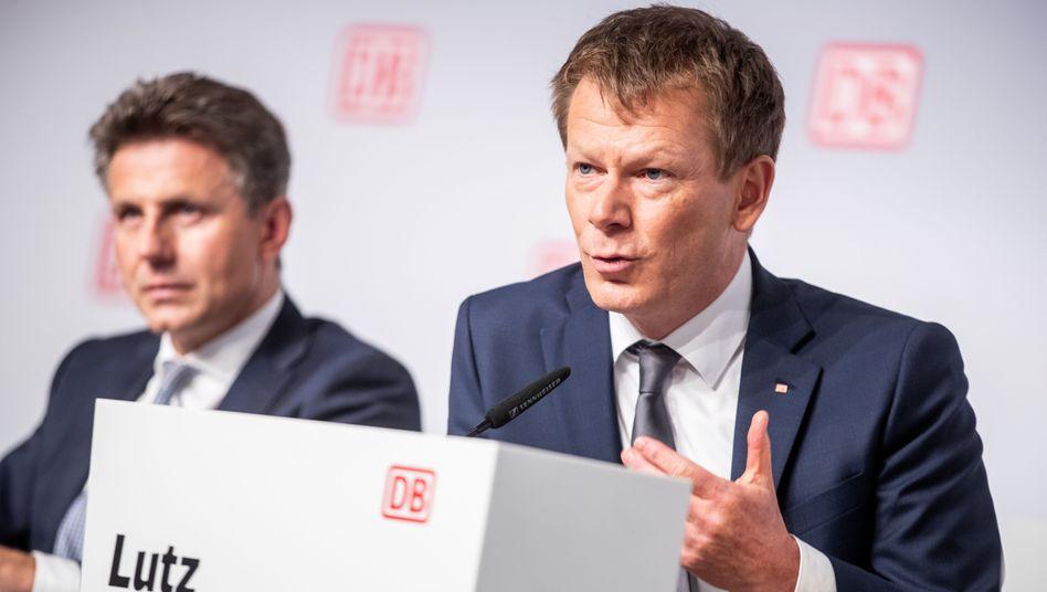 Erbitterte Kontrahenten: Bahnchef Richard Lutz (r.) und Finanzvorstand Alexander Doll