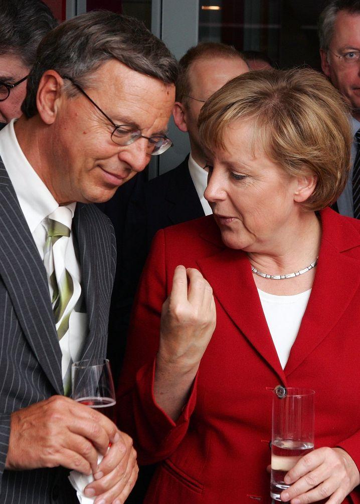 Angela Merkel und Wolfgang Bosbach (im jahr 2006)